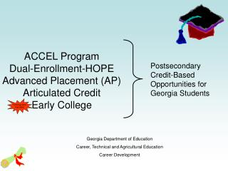 ACCEL Program Double Enlistment Trust Propelled Position (AP) Enunciated Credit Early School