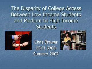 The Divergence of School Access Between Low Pay Understudies and Medium to High Salary Understudies