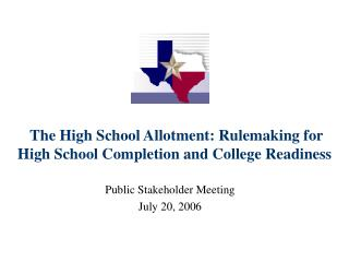 The Secondary School Portion: Rulemaking for Secondary School Finishing and School Status