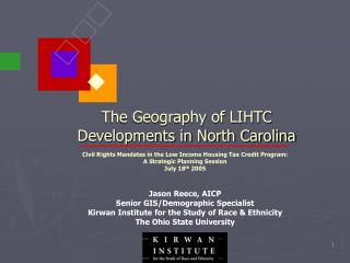 The Geology of LIHTC Advancements in North Carolina