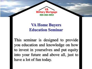 VA Home Purchasers Training Course
