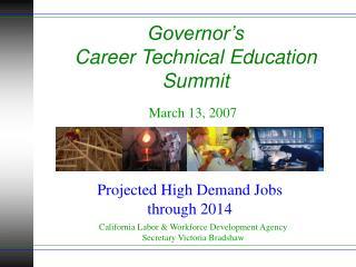 Senator's Vocation Specialized Training Summit
