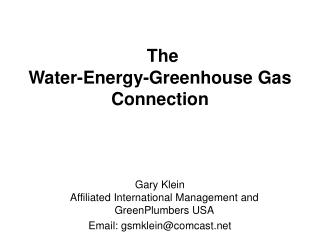 The Water-Vitality Nursery Gas Association