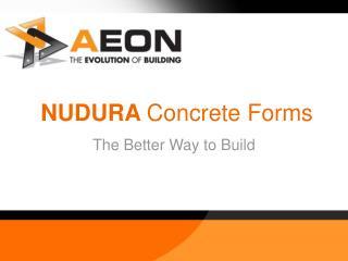 NUDURA Solid Structures