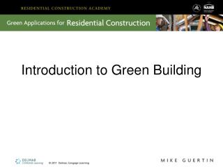 Prologue to Green Building