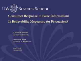 Buyer Reaction to False Data: Is Acceptability Fundamental for Influence?