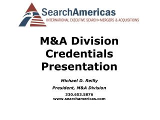 M&A Division Certifications Presentation
