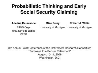 Probabilistic Deduction and Early Standardized savings Guaranteeing