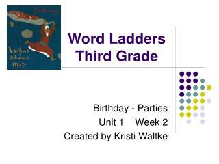 Word Stepping stools Third Grade