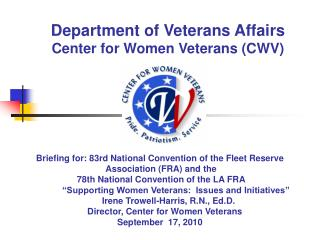 Branch of Veterans Issues Community for Ladies Veterans (CWV)