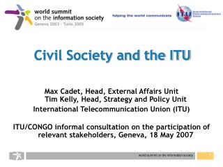Common Society and the ITU