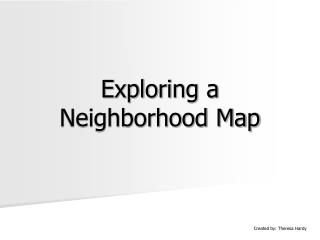 Investigating an Area Map