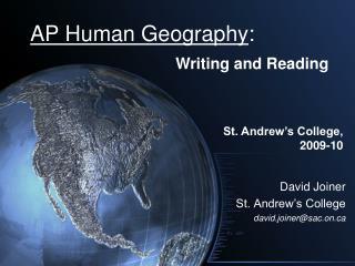 AP Human Geology :