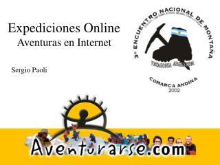 Expediciones Online Aventuras en Web
