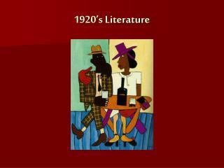 1920's Writing