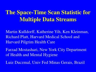 The Space-Time Check Measurement for Different Information Streams
