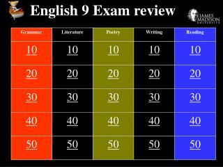 English 9 Exam audit