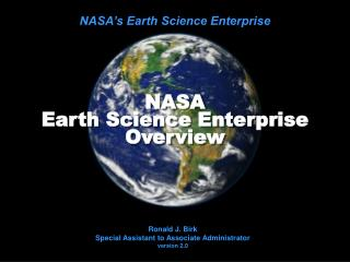 NASA Earth Science Undertaking Diagram