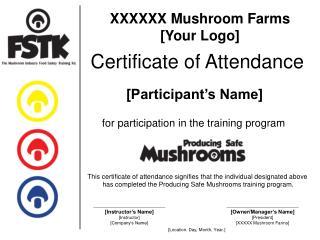 XXXXXX Mushroom Ranches [Your Logo]