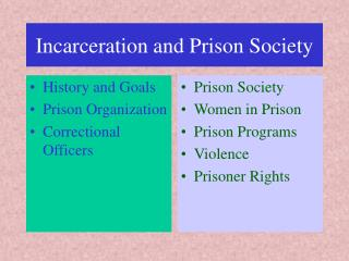 Detainment and Jail Society