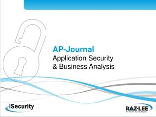 AP-Diary Application Security and Business Investigation