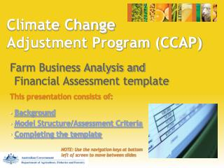 Environmental Change Conformity Program (CCAP)