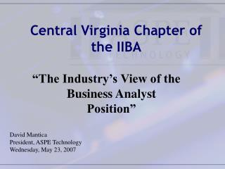 Focal Virginia Part of the IIBA
