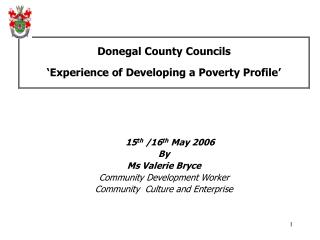 Donegal Region Boards 'Experience of Building up a Neediness Profile'