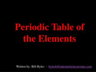 Occasional Table of the Components