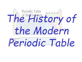 The Historical backdrop of the Current Intermittent Table