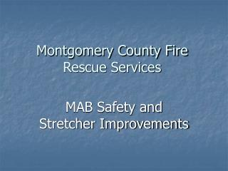 Montgomery Province Fire Salvage Administrations