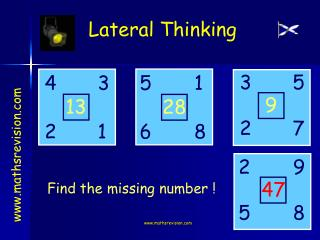 Locate the missing number !