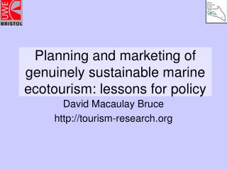 Arranging and promoting of really supportable marine ecotourism: lessons for strategy
