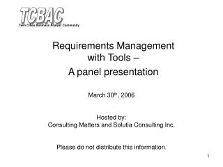 Prerequisites Administration with Instruments