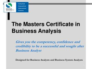 The Experts Declaration in Business Investigation