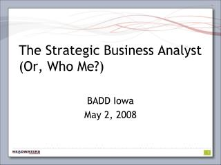 The Key Business Examiner (Or, Who Me?)
