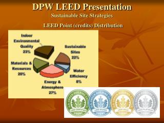 DPW LEED Presentation Reasonable Site Methodologies LEED Point (credits) Dissemination