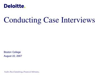 Directing Case Interviews