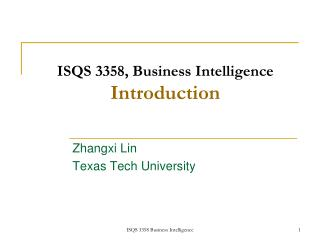 ISQS 3358, Business Knowledge Presentation