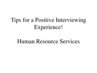 Tips for a Positive Talking Knowledge! Human Asset Administrations