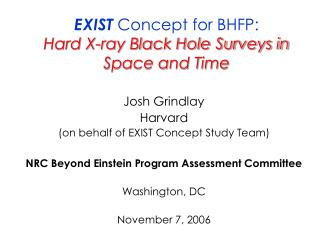 EXIST Idea for BHFP: Hard X-beam Dark Gap Studies in Space and Time