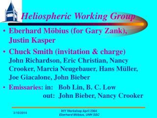 Heliospheric Working Gathering