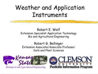 Climate and Application Instruments