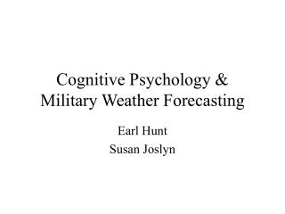 Intellectual Brain science and Military Climate Anticipating