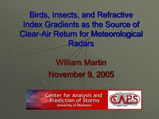 Flying creatures, Creepy crawlies, and Refractive Record Inclinations as the Wellspring of Clear-Air Return for Meteorol