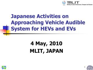 Japanese Exercises on Drawing closer Vehicle Capable of being heard Framework for HEVs and EVs