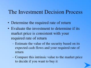 The Venture Choice Procedure