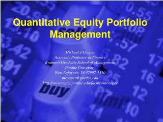 Quantitative Value Portfolio Administration