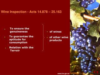 Wine Investigation - Acts 14.878