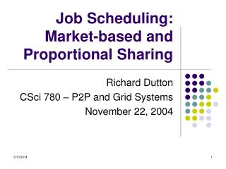 Work Planning: Market-based and Corresponding Sharing